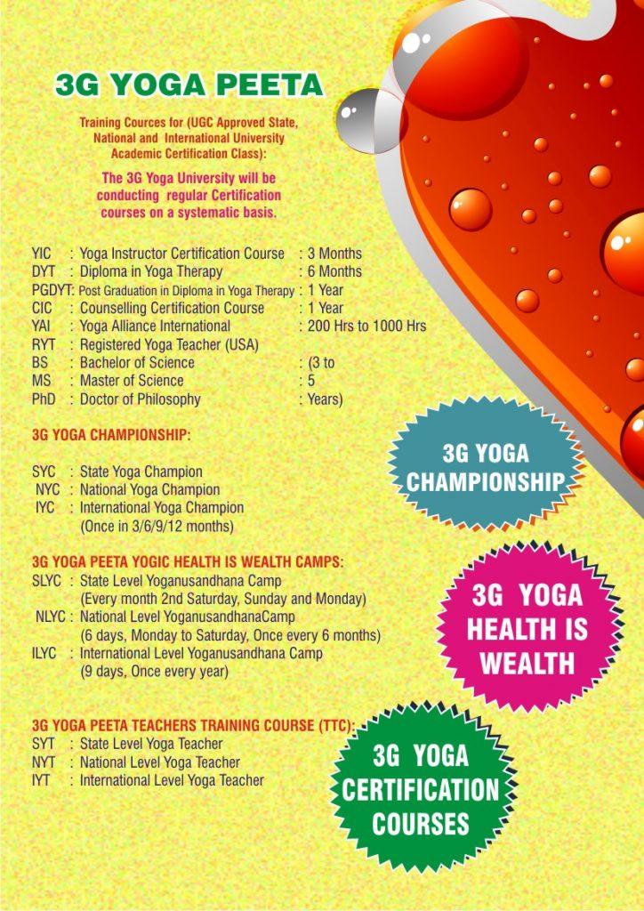 3G Yoga Benefits