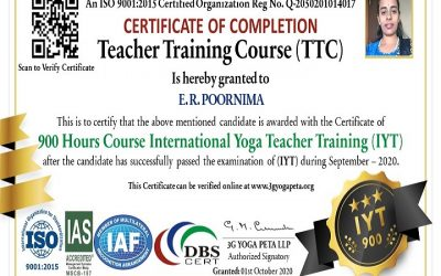 International Yoga Teacher TTC 900 Hours Certification