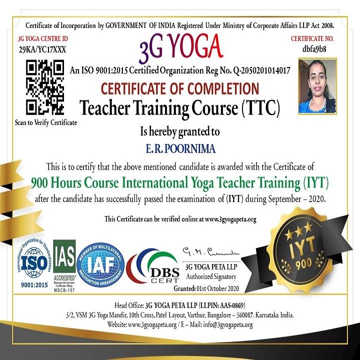International Yoga Teacher TTC 900 Hours Certification