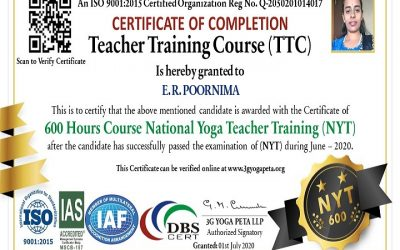 National Yoga Teacher TTC 600 Hours Certification