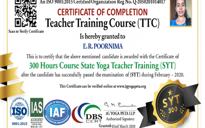 State Yoga Teacher TTC 300 Hours Certification